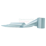 Picture of of Sky Blue Ceremonial Ribbon in swirl pose.