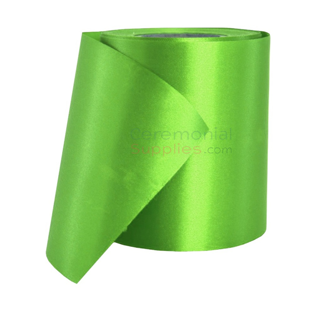 Main image of a roll of Light Green Plain Grand Opening Ribbon.