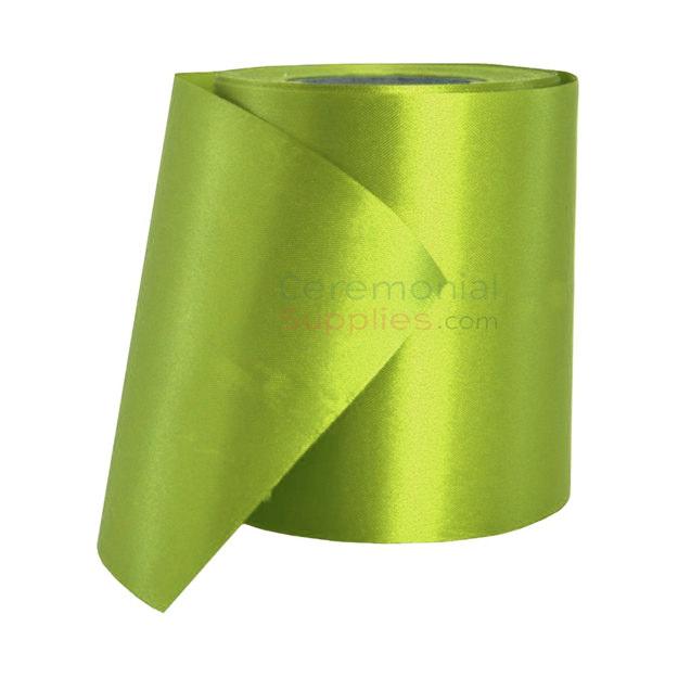 Full roll of Neon Green Grand Opening Ceremonial Ribbon