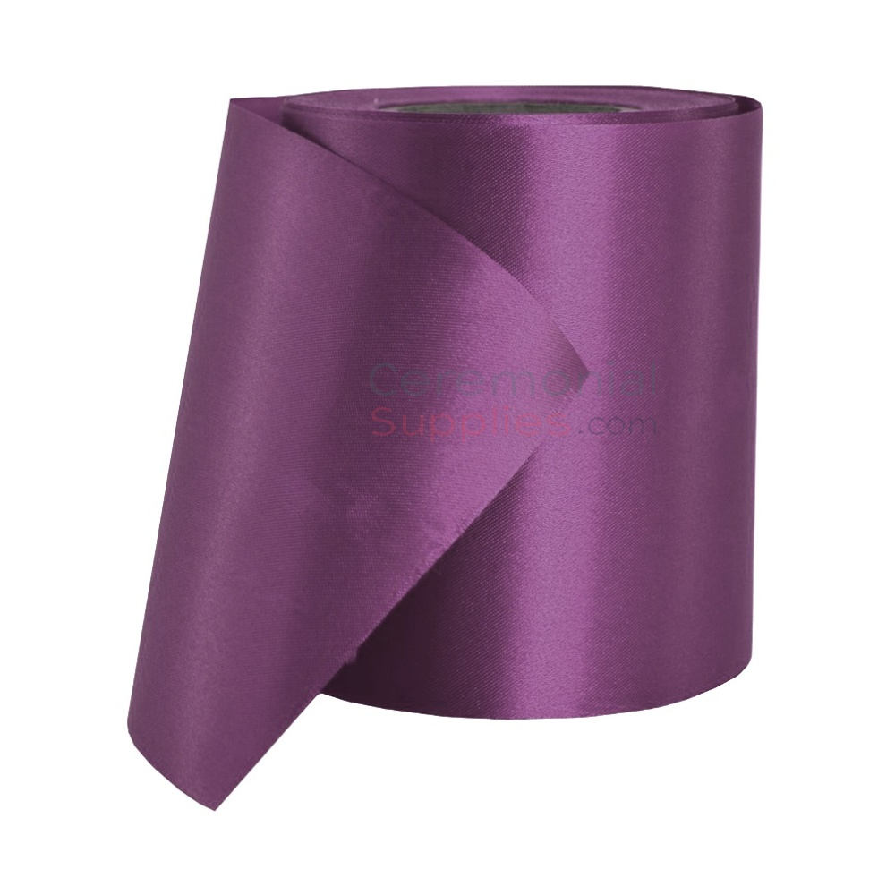 Photo of a roll of Purple Satin Ceremonial Ribbon
