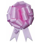 Image of 8 inch wide Ceremonial Pull Bow in Pink.