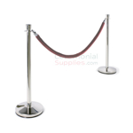 Luxury Chrome Steel Stanchion and Rope Line Management Set