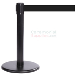 Photo of the Black Mini Stanchions With the black retractable belt.