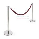 Photo of the Luxury Flat Top Stanchion and Red Rope Queue Management Set.