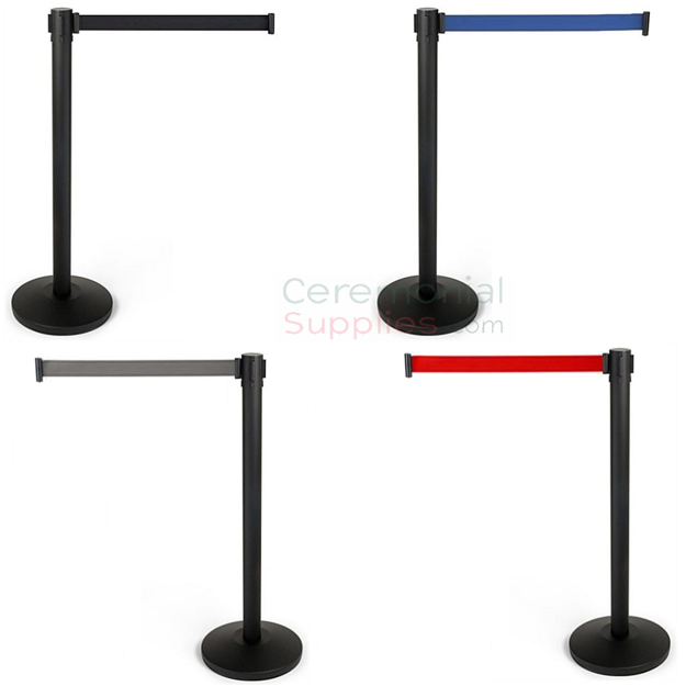 4 Way Retractable Belt Stanchions in all 4 colors.