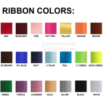 Swatches of All Available Ribbon Colors.