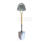 Silver Groundbreaking Basics Kit with metallic shovel.