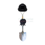 Black Groundbreaking Deluxe Shovel Kit with Matching Hard Hat and Bow.