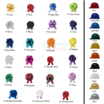 Color Options for All Hard Hats and Bows for Groundbreaking Shovel Kits.