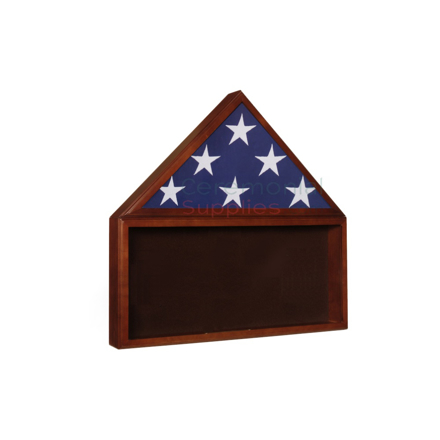 Combination triangle flag display case and rectangle shadow box