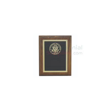Picture of Award Plaque with U.S. Army Seal and Room for Personal Engraving