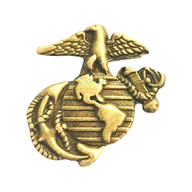 Vintage brass emblem of the Marine Corps