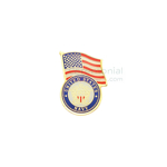 American flag and Navy insignia lapel pin