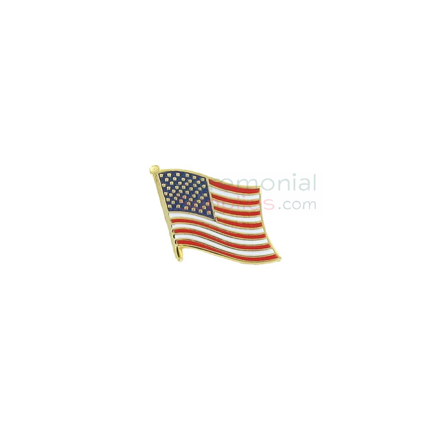 Gold plated united states flag lapel pin