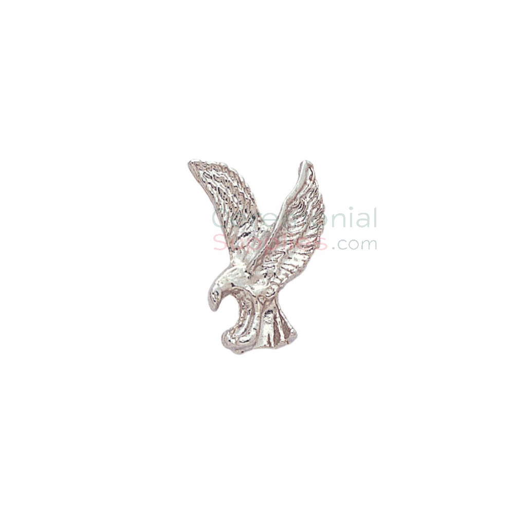 Silver lapel pin of the American Eagle