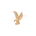 Gold lapel pin of the American Eagle