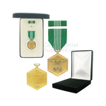 Image of Army Commendation medal with black velour and Govt. Official boxes