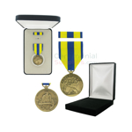 Pictured  1-3/8 Inch Navy Expeditionary Military Medal with Black Velour and Official Govt. Boxes
