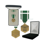 Pictured  1-3/8 Inch Navy & Marine Corps Commendation Military Medalwith Black Velour and Official Govt. Boxes