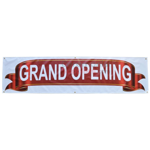 Image of the full Deluxe Grand Opening Banner.