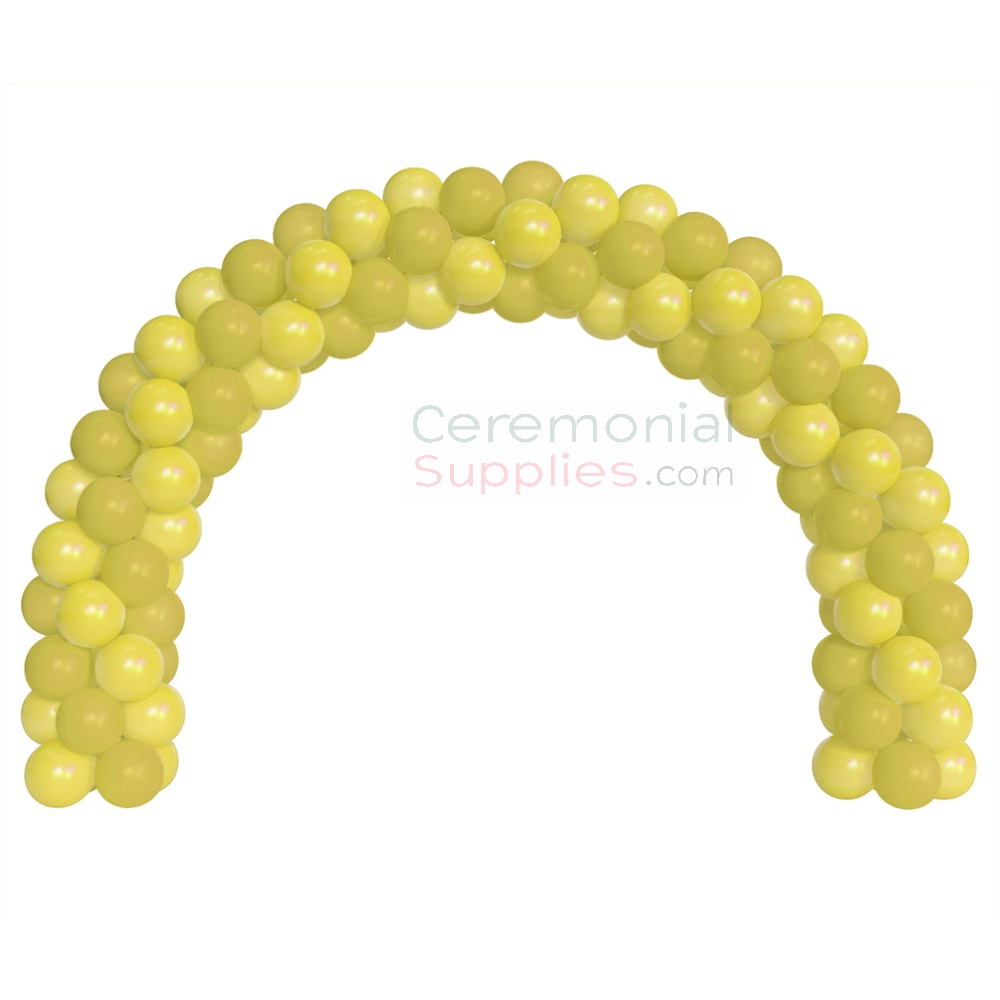 A 6 Foot Decorative Yellow Balloon Arch Kit