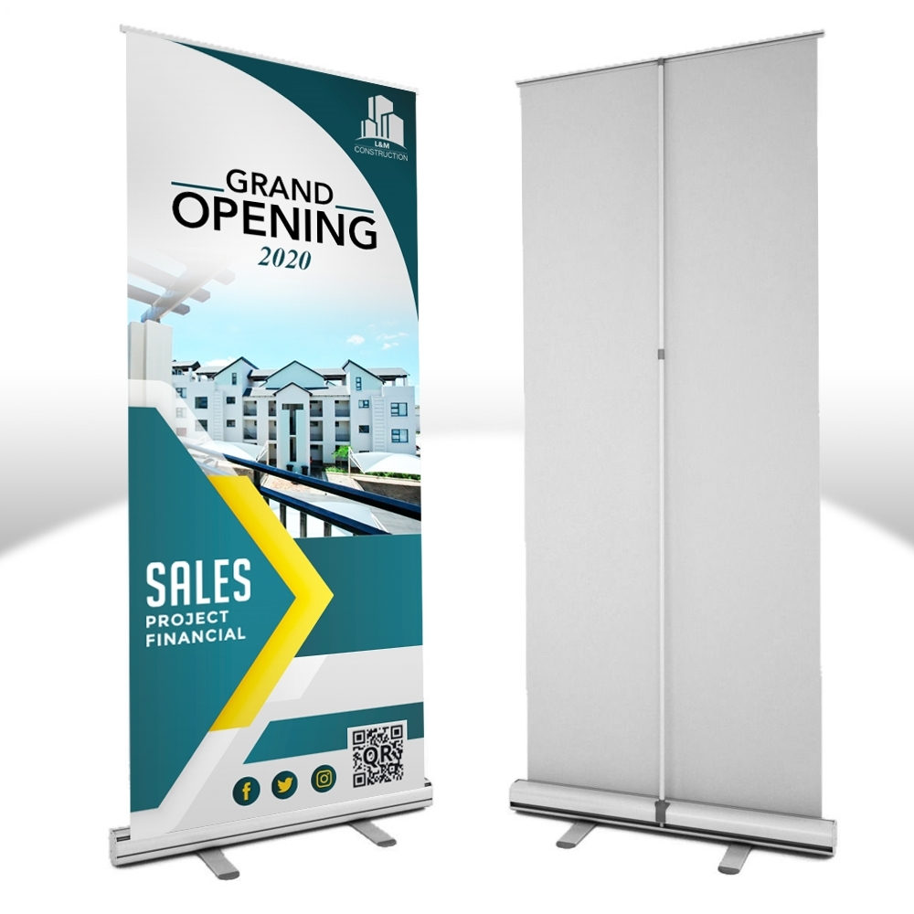 Picture of Custom Ceremonial Retractable Roll-up Banner