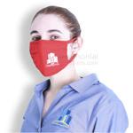 Side Image of Black Mask with Customization