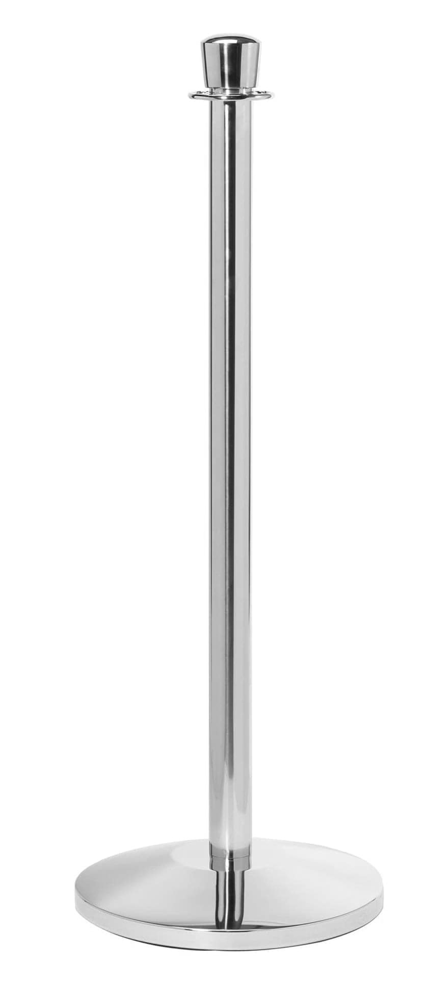 Chromed Steel Urn Top Stanchion
