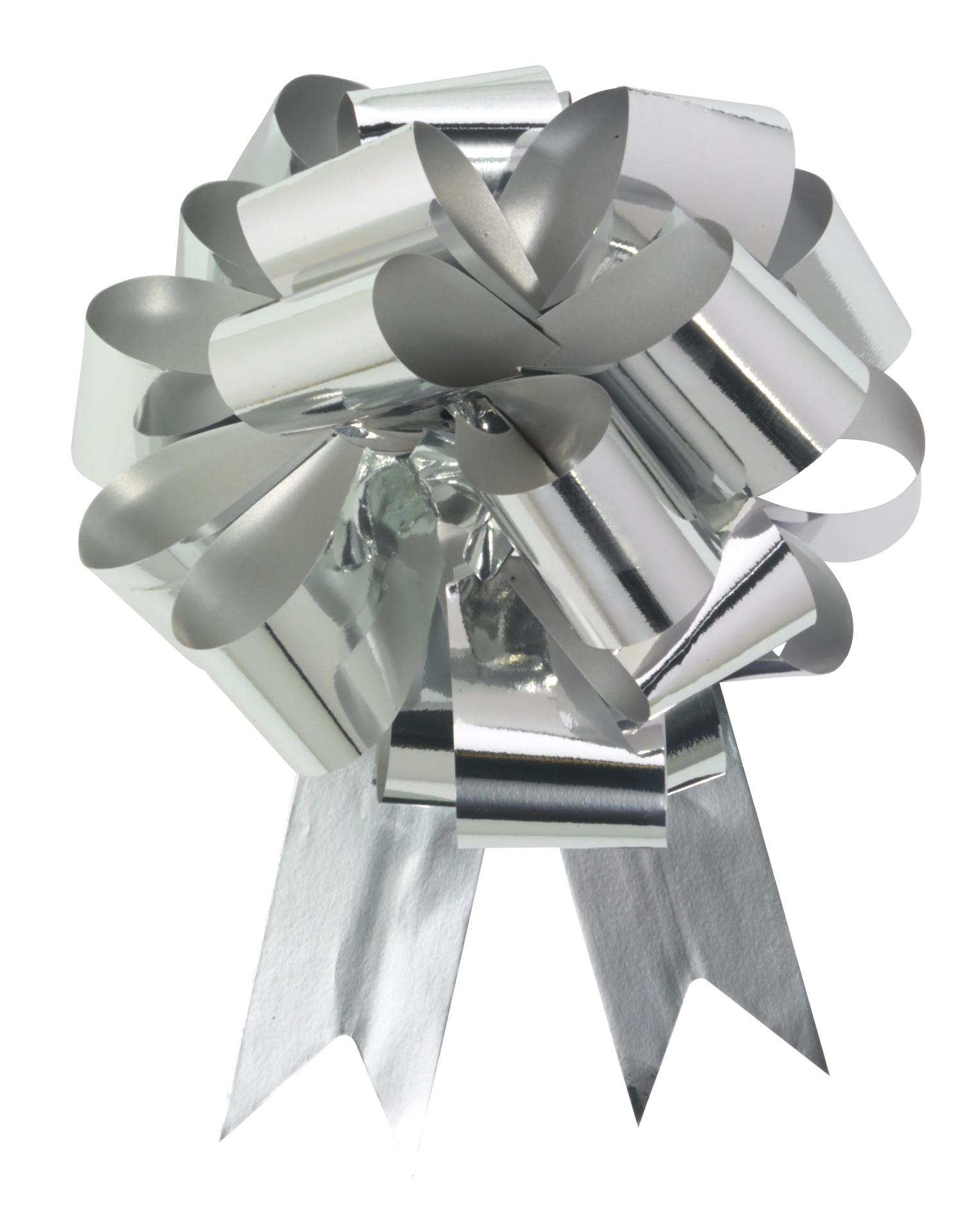 """Picture of 8"""" Metallic Silver Pull Bow"""