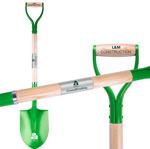 Green Groundbreaking Shovel with Plaque