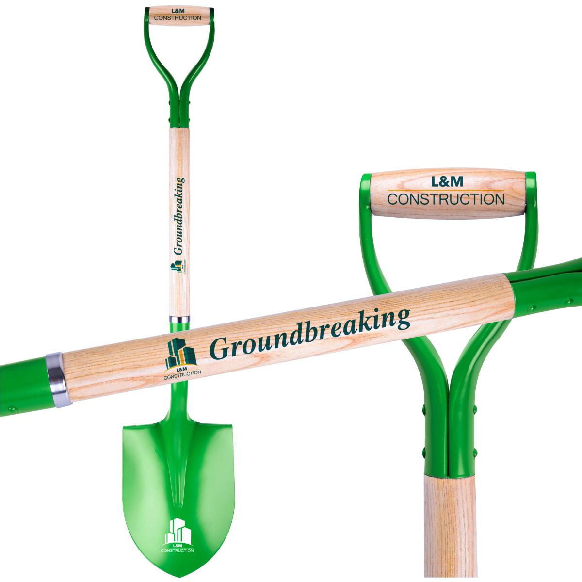 Green Groundbreaking Shovel direct print