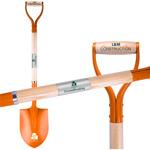 Orange Groundbreaking Shovel plaque